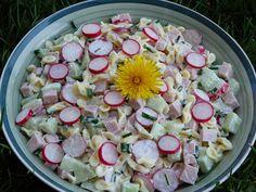 Monia miesza i gotuje: Wiosenna sałatka z rzodkiewką, ogórkiem i szczypio... Pasta Salad, Potato Salad, Potatoes, Cooking Recipes, Vegetables, Ethnic Recipes, Alligators, Sodas, Crab Pasta Salad