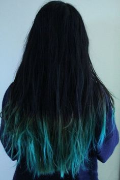 From multi-dimensional greyish blue looks to pastel blue dip-dye styles, we've got 30 blue ombre hair color ideas that will take your hair to bold new places! Dip Dye Black Hair, Dip Dye Hair, Dye My Hair, New Hair, Dip Dyed, Blue Dip Dye, Turquoise Hair Ombre, Blue Ombre Hair, Black Ombre