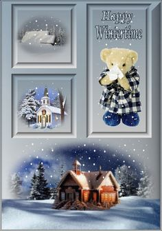 Happy Wintertime winter animated snow collage snowman graphic winter quote happy winter winter greeting