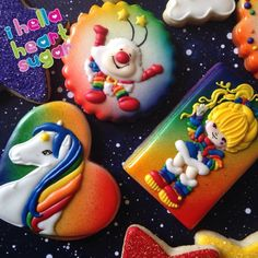 Rainbow Brite cookies