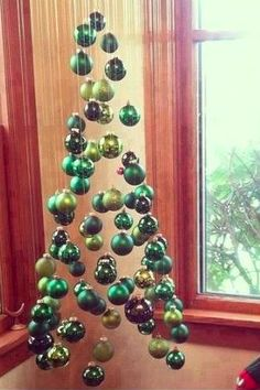 diy christmas tree made out of ornaments diy pinterest diy