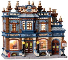 Center City Police Station... Would love this for a Christmas Village!!