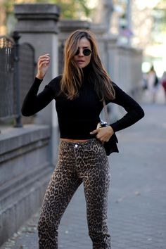 365121b6b5 24 Best leopard pants outfit images | Animal print fashion, Animal ...