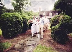 rainy day spring vintage wedding historic home