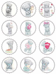 Laine Design: Freebies – Lovely site for printable pics for parties. Tatty Teddy, Teddy Images, Party Banner, Bear Cupcakes, Teddy Bear Birthday, Blue Nose Friends, Bear Theme, Bear Party, Bottle Cap Crafts