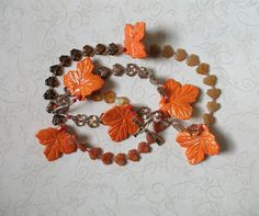 Autumn Colors Rosary  Maple Leaves by secondarycreations on Etsy