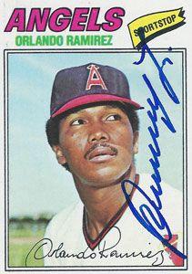 Orlando Ramirez(colombian) Autograph on a 1977 Topps (#131)