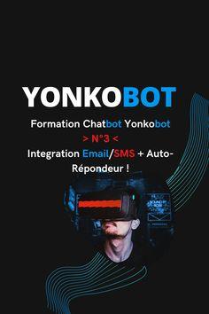 🤖  Nouvelle vidéo de la Formation Chatbot Yonkobot, vidéo N°3 !... 👉Aujourd'hui nous verrons les integrations possibles pour le Chatbot Yonkobot en matière d'expéditeur Emails/Sms.... 👉Nous verrons comment programmer l'Auto-répondeur afin qu'une fois l'Email ou le Numéro collecté, ce dernier reçoit Automatiquement un Message ou Sms de bienvenue.... 👉Nous pouvons intégrer l'API de Sendinblue, Mailchimp, Activecampagn, Acelle & Mautic pour récolter des Emails et envoyer sur une Liste Email La Formation, Messages, Mailchimp, Email, Afin, Robot, Movie Posters, Facebook, Marketing Tools
