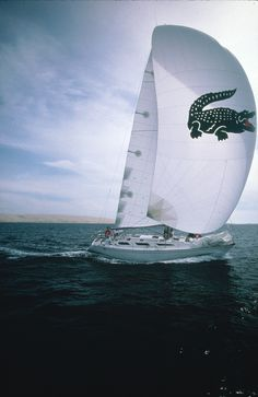 Who wants to #sailaway with #Lacoste? © Lacoste Archives.