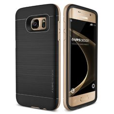 Original VRS Design® Samsung Galaxy S7 Edge Handyhülle in der High Pro Shield Edition Galaxy S7 Edge Schutzhülle Case Cover Etui Shine Gold 24,90€