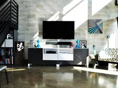 This modern living room is from Tobin's portfolio. He was eliminated in the episode one and David says it was a mistake. What do you think? #hgtvstar http://www.hgtv.com/hgtv-star/tobin-greens-design-portfolio/pictures/page-5.html?soc=pinterestdb