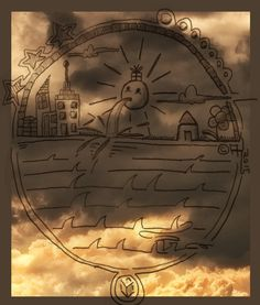 #minimalistic #nature #clouds #sun #houses Compass Tattoo, My Arts, Minimalist, Houses, Clouds, Nature, To Draw, Art, Homes