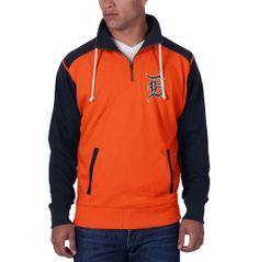 '47 Brand Men's Detroit Tigers Division Orange/Navy Quarter-Zip Pullover - Dick's Sporting Goods