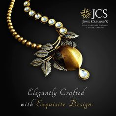 Elegantly Crafted With Exquisite Design ! Gold Rings Jewelry, Gold Jewellery Design, Wedding Jewelry, Gold Necklaces, Antique Jewelry, Jewellery Sketches, Art Nouveau Jewelry, Silver Wedding Rings, India Jewelry