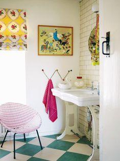 Quirky fun colorful bathroom!