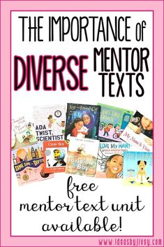 Teaching with diverse mentor texts is important for all classrooms. Get book ideas as well as things to keep in mind as you choose books for your lessons.