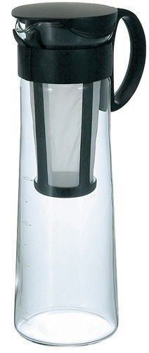 Hario Cold Brew Pot Coffee Maker...makes a concentrate.. lasts in fridge one month.
