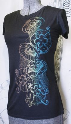 octopus ink clothing. I live this design. Would make a great side piece.