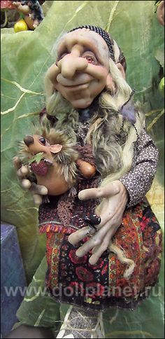 Текстильная кукла Баба Яга фото