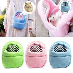 Small Pet Hamster Hedgehog Bunny Carry Bag Sugar Glider Hamsters Portable Bag
