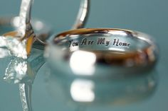Sweet engraving on the wedding ring.