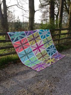 Union Jack Quilt in Tula Pink's Acacia line