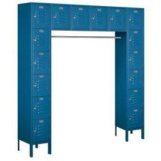 Salsbury Industries 66000 Series 72 in. W x 78 in. H x 18 in. D Box Style Bridge Metal Locker Unassembled in Blue-66016BL-U at The Home Depot