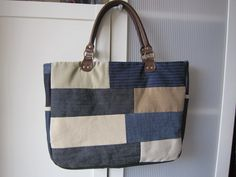 Denim Patchwork Bag. $40.00, via Etsy.