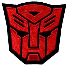 3.1' x 3.2' Transformers Red Autobot Movie Film DIY Applique Embroidered Sew Iron on Patch * More info could be found at the image url.
