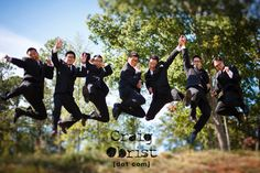 the jumping wedding shots never get old