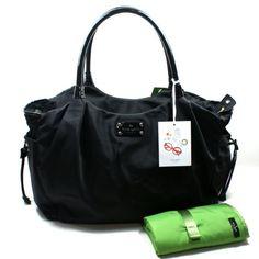 Kate Spade Stevie Baby Bag Basic Nylon Black Diaper Bag (Black) #WKRU1370
