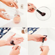 Clean your makeup brushes every other week using this technique.    Visit my site Real Techniques brushes makeup -$10 http://youtu.be/GN4old3cbs4   #realtechniques #realtechniquesbrushes #makeup #makeupbrushes #makeupartist #makeupeye #eyemakeup #makeupeyes