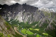 Troll Wall, Andalsnes, Norway