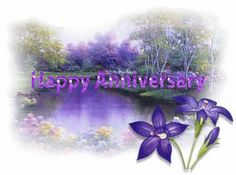 Purple Happy Wedding Anniversary Message | Anniversary Images, Pictures, Graphics, Comments