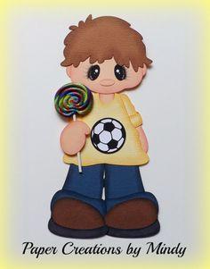 ELITE4U lollipop boy Kids summer premade paper piecing scrapbooking page i