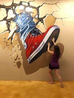 Murals Street Art, 3d Street Art, Street Art Banksy, Urban Street Art, Amazing Street Art, Art Mural, Street Artists, Graffiti Artists, Banksy Art