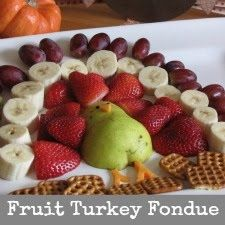 Fruit Turkey, it was sugested to serve with chocolate Fondue but you can always do whip cream as well