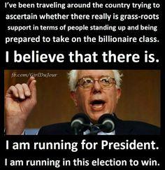 Hope! From Senator Bernie Sanders