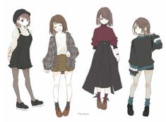Cr : ao_beni on twt Anime Girl Dress, Anime Art Girl, Anime Outfits, Cute Outfits, Anime Inspired Outfits, Drawing Anime Clothes, Pretty Anime Girl, Cute Art Styles, Fashion Design Drawings