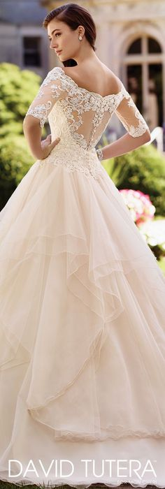 Wedding Dress by David Tutera for Mon Cheri 2017 Bridal Collection   Style No. » 117292 Aurelia