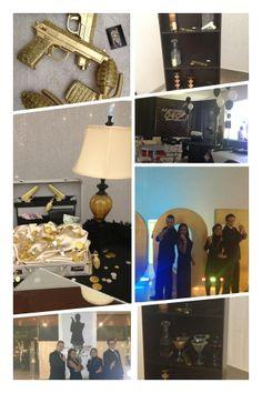 007  James Bond Party Paint kids favors gold