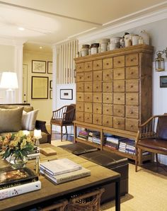 Chest with many drawers...