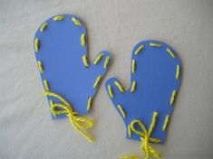 This Mitten Lacing craft is a great way to celebrate the winter season. It will also help children practice their fine motor skills! If you tie your mittens together they would make a cute tree ornament or winter wall decoration!
