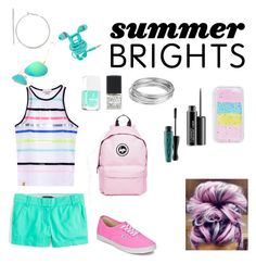 """""""Summer brights"""" by eskimoerin on Polyvore featuring J.Crew, Monreal, Vans, Boohoo, Formula X, SHADE Collection, Worthington, MAC Cosmetics and Hype"""
