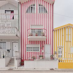 Once used by fishermen- who painted the houses in bright stripes to stand out against the pale tones of the sand