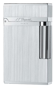 S.T. Dupont Ligne 2 Lighter - Model #: 016404 - Palladium Finish -Brushed Pattern