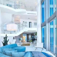 Modern Penthouse Living via @luxclubboutique Life is short get #rich like we do and become #famous tomorrow. Follow Rich Famous on Twitter to live the life you want. Luxury Home Luxury Lifestyle Rich Money