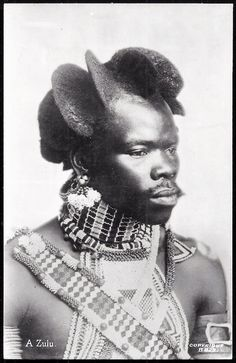 """Afro-Punk take note. Portrait of a Zulu man from South Africa, circa (image via grand-bazaar) - DynamicAfrica Afro Punk, African Tribes, African Diaspora, African Culture, African American History, African Hairstyles, Afro Hairstyles, Black Hairstyles, Foto Face"
