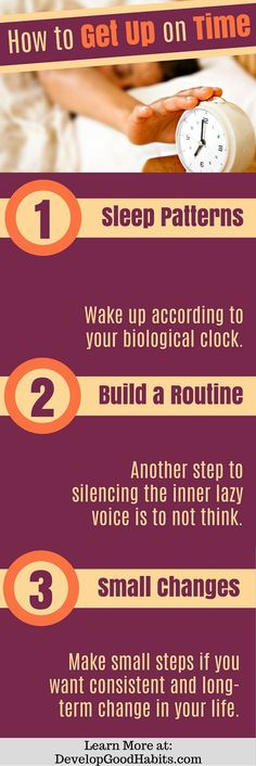 How to get up on time. Tips on getting a good nights sleep. Sleep | Good Nights Sleep | Sleep Tips | Sleep Well |Insomnia | Importance of sleep | How to sleep better | Improve sleep http://www.developgoodhabits.com/good-nights-sleep/