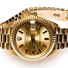 1980 ROLEX DATEJUST 69178 WATCH LADIES PRESIDENTIAL 18K GOLD SERIAL 6749177